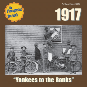 "1917: ""Yankees to the Ranks"" (Various Artists)"